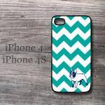 Cute Iphone Teal Chevron A..