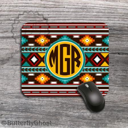 Customized Computer Mousepad - Standart Tribal Pattern and Colors padding, design office accessory, monogrammed mat