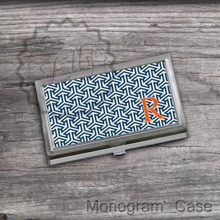 Monogrammed Card Holder - Personalized Card Case, office boss gift, store cards case