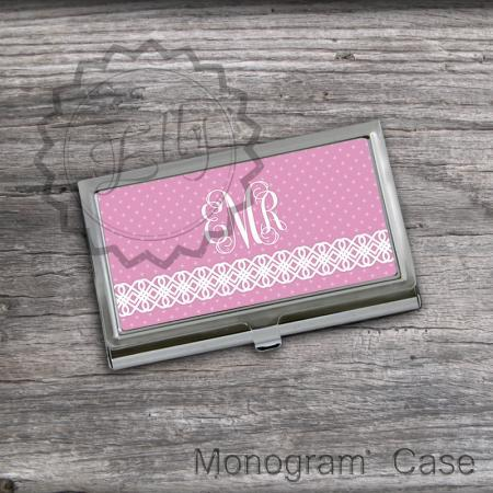 Unique design pattern Card Holder - Personalized Pink Card Case, Custom Card Holder gift, card keeper case